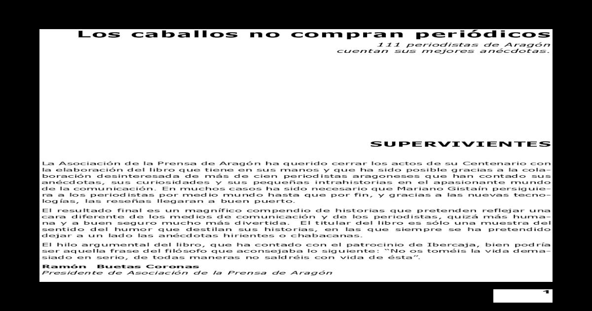 a17d503eaa    Los Caballos No Compran Periodicos - Anecdotas(BookZZ.org)
