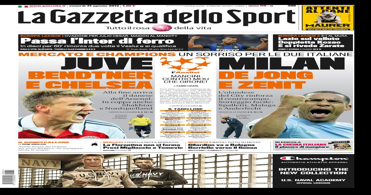 gazzetta dello sport 31 08 2012 7604b274cdc5