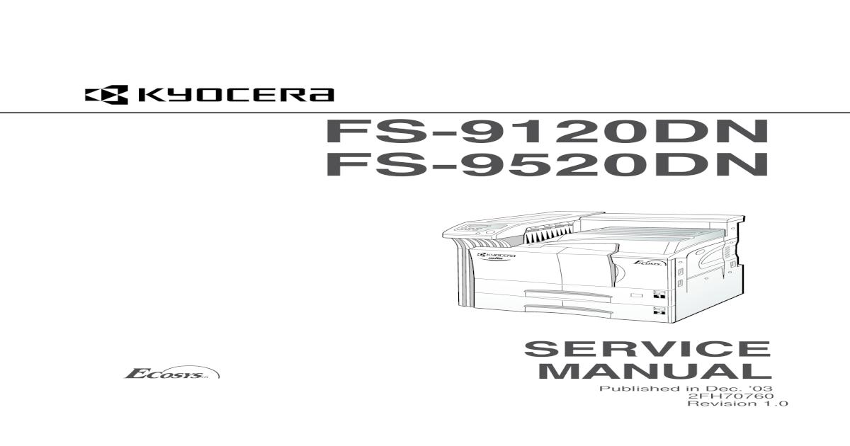 kyocera mita ecosys fs 8000c fs 8000cd fs 8000cn color laser printer service repair manual parts list