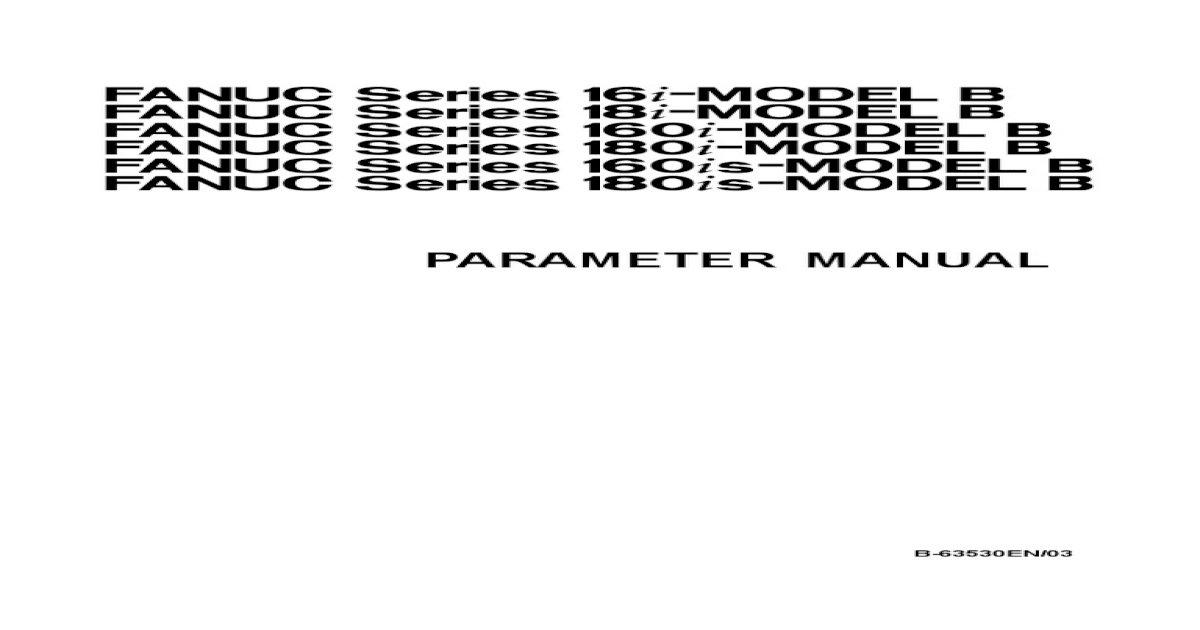 Fanuc 16i 18i 160i 180i Parameter Manual