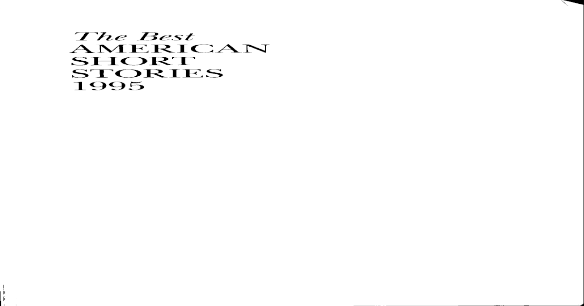 f1ae141e7ddd Best American Short Stories 1995