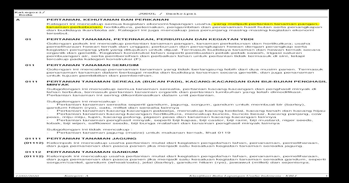 BUKU KLASIFIKASI BAKU LAPANGAN USAHA INDONESIA TAHUN 2009 daf97cf851