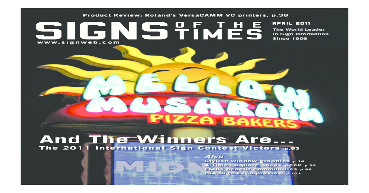 Signs of the Times - April 2011