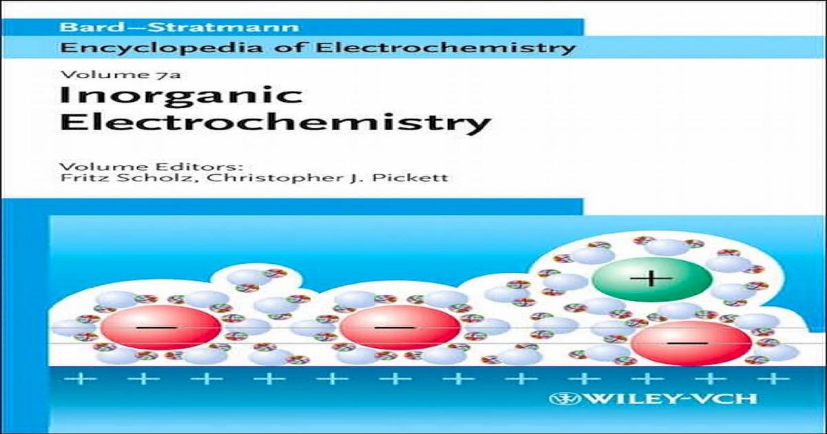 Encyclopedia Of Electrochemistry Volume 7a Inorganic