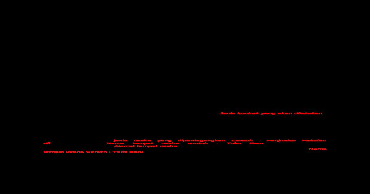 Contoh Format Surat Perjanjian Kerjasama