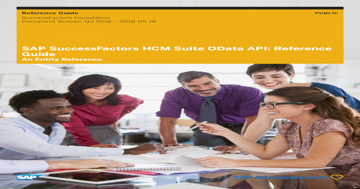 SAP SuccessFactors HCM Suite OData API: Reference ? Reference Guide