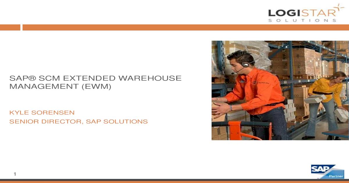 EWM)sap scm extended warehouse management (ewm)