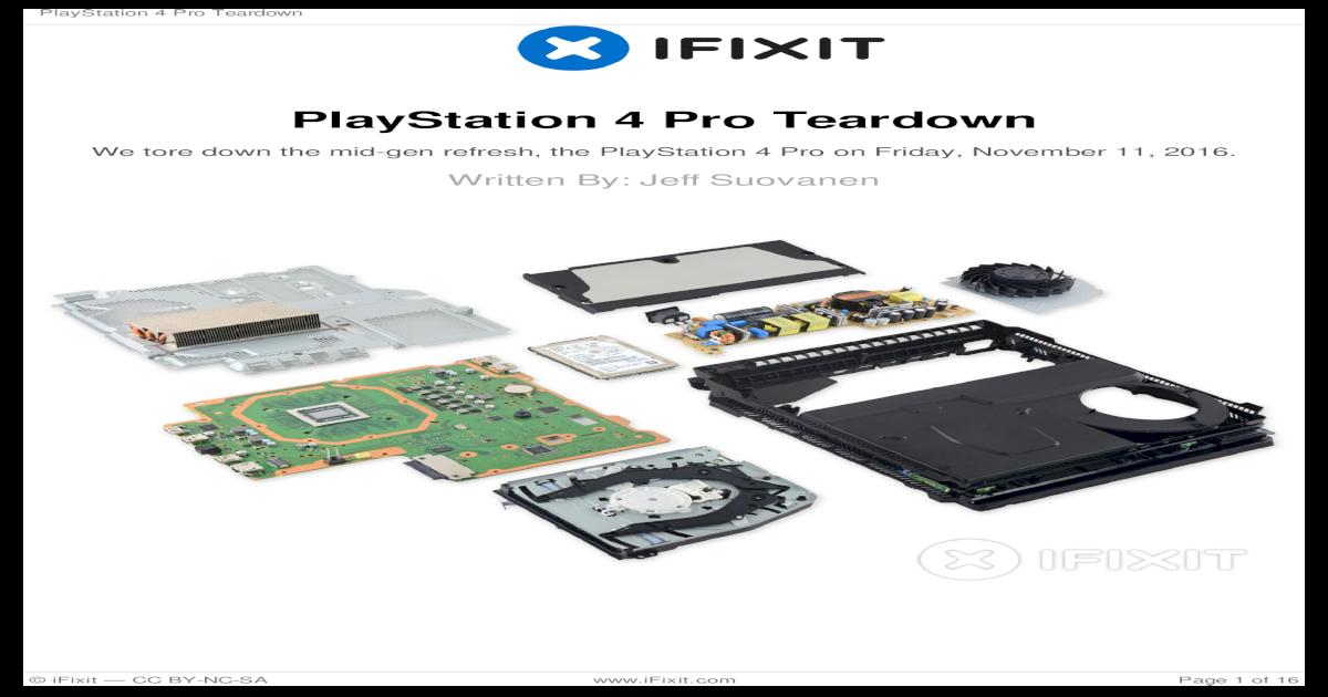 PlayStation 4 Pro Teardown - Amazon Web Services J20H091 Wireless