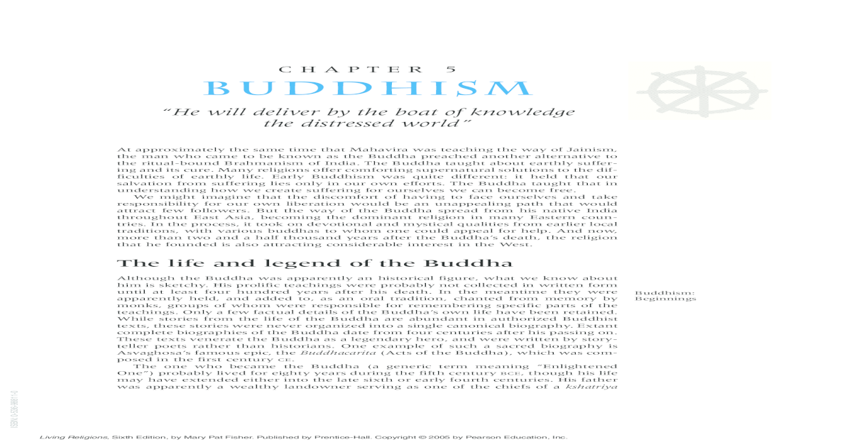 Chapter 5 Buddhism University Of 5 Buddhism He Will Deliver By The
