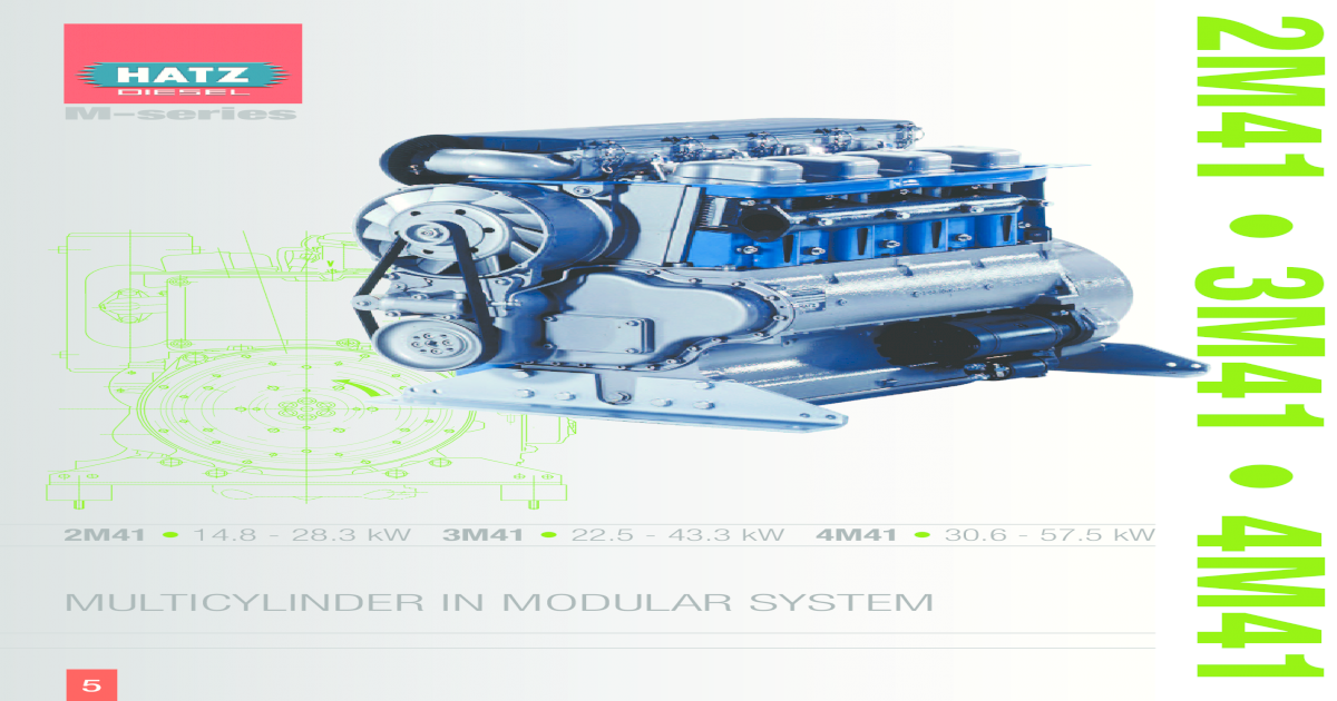 49490304 Hatz sel Engine 2M41 Brochure on
