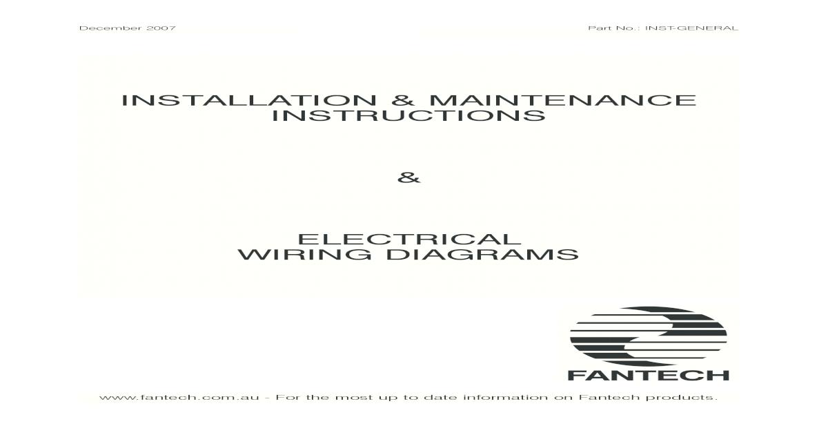 2 Installation Maintenance -Fantech on