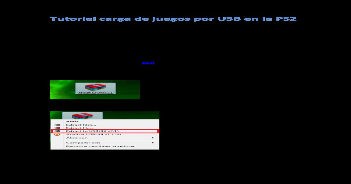 Tutorial Carga de Juegos Por USB en La PS2