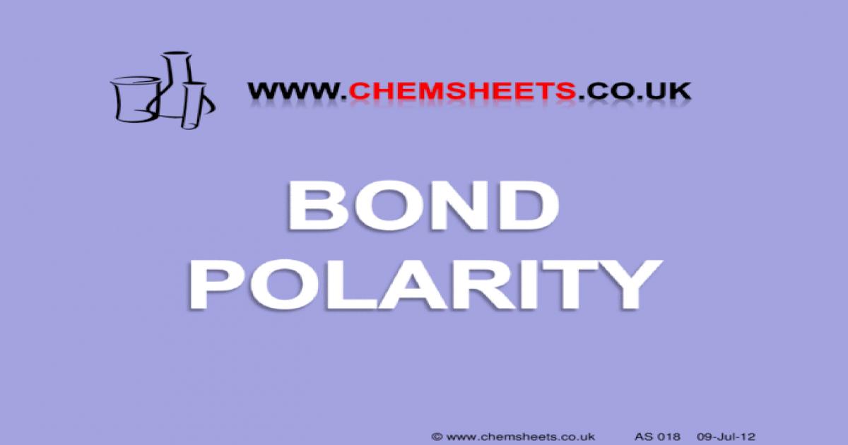 www chemsheets co uk AS 018 09-Jul-12  Electronegativity = the power