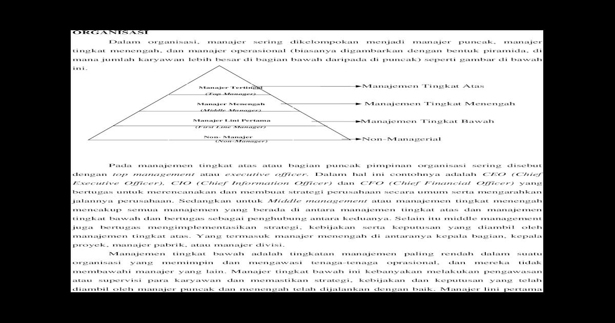 73 Gambar Bentuk Organisasi Piramida