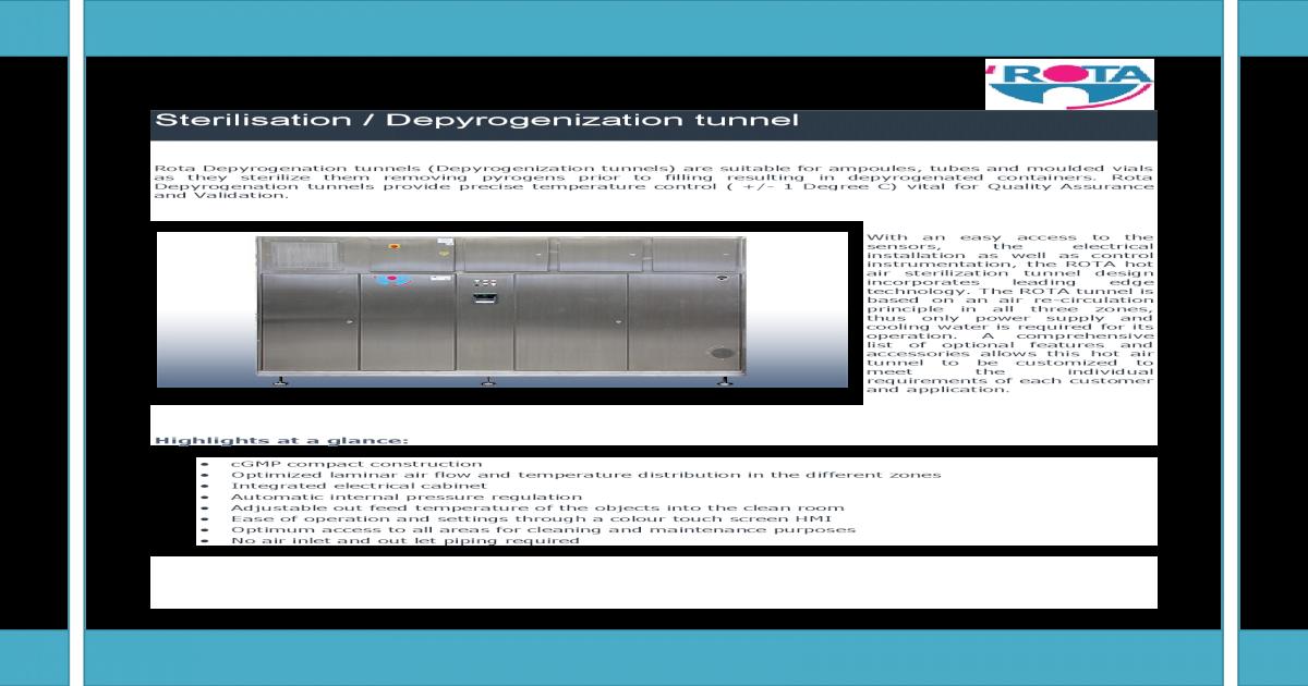 Depyrogenation Tunnel Validation Pdf