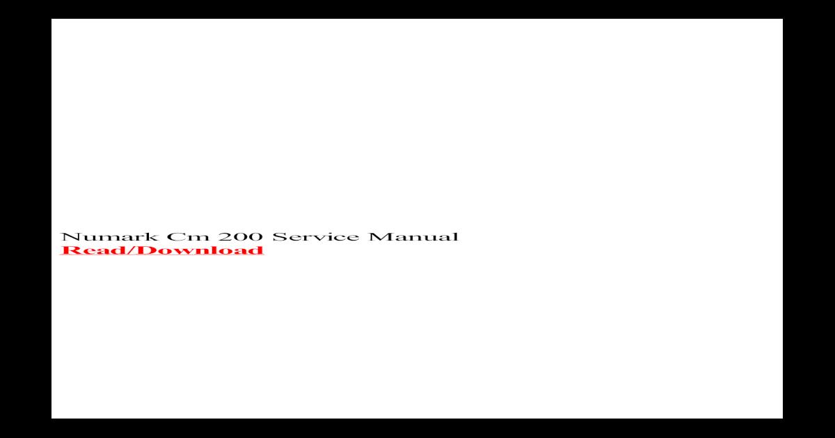 numark ns6 service manual