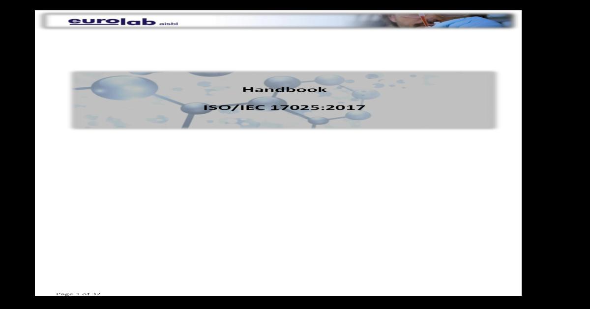 Handbook ISO/IEC 17025:2017 - Handbook ISO IEC   Page 2 of 32