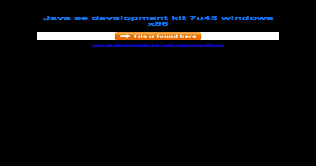 download jdk 7 32 bit windows xp