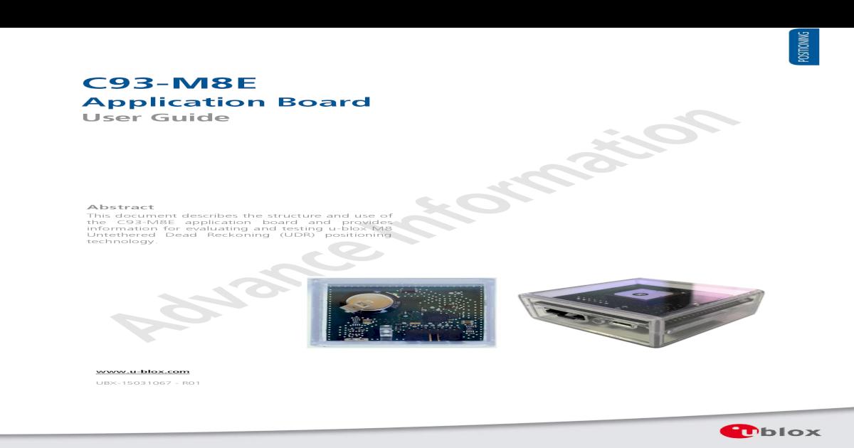 C93-M8E Application Board User Guide