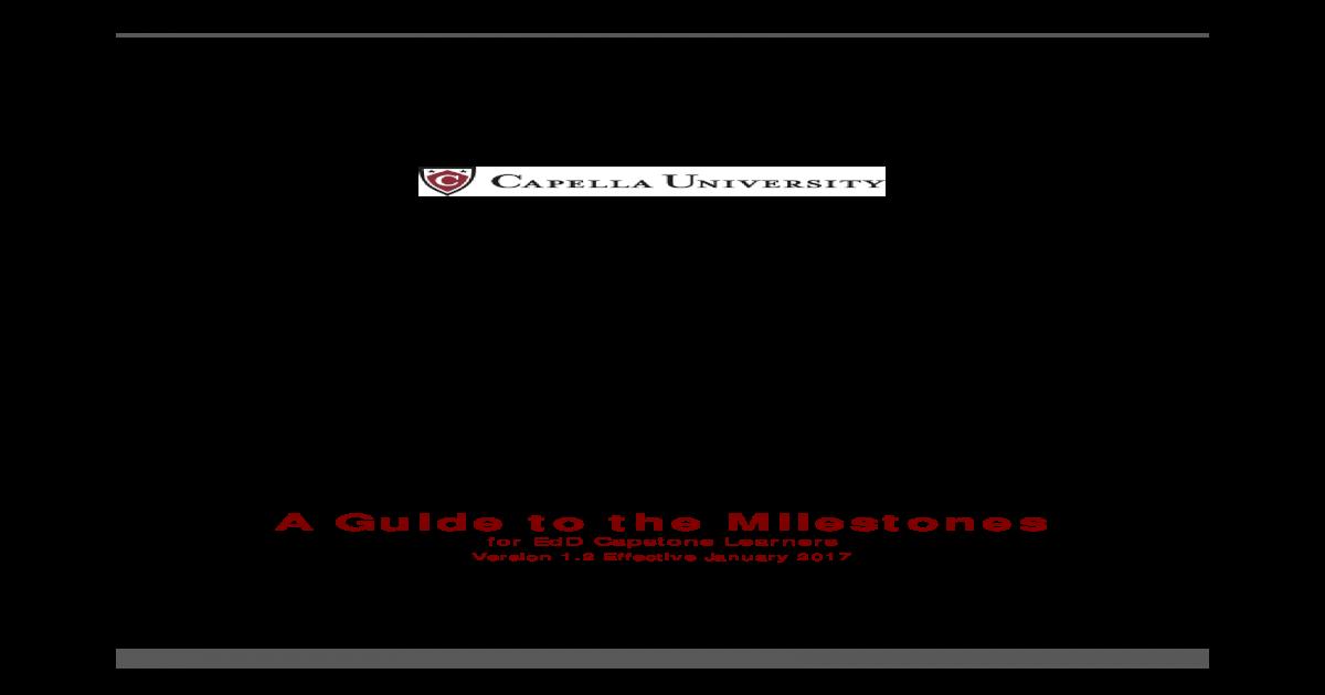 capella university dissertation milestones