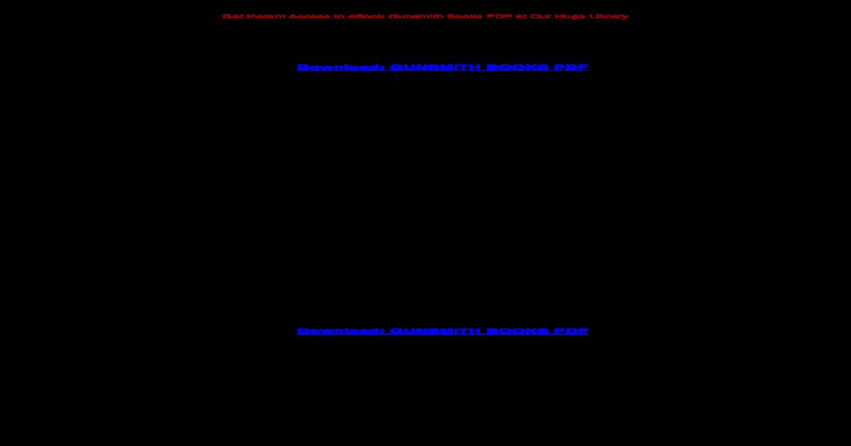 GUNSMITH BOOKS PDF - Books PDF, such as