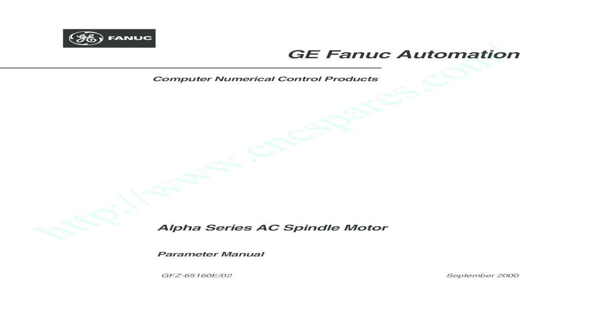 GE Fanuc FANUC AC      GE Fanuc Automation / Computer Numerical