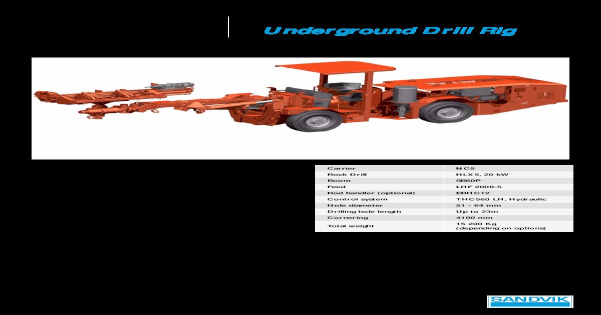 Sandvik DL331-5 Underground Drill Rig - Groupe DL331-5