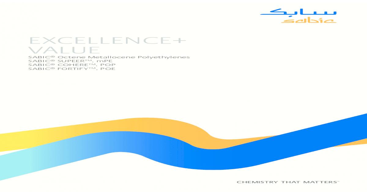 EXCELLENCE+ VALUE - Distrupol, the polymer VALUE SABIC