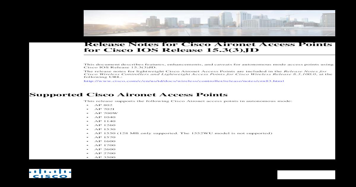 Cisco Autonomous Ap Models