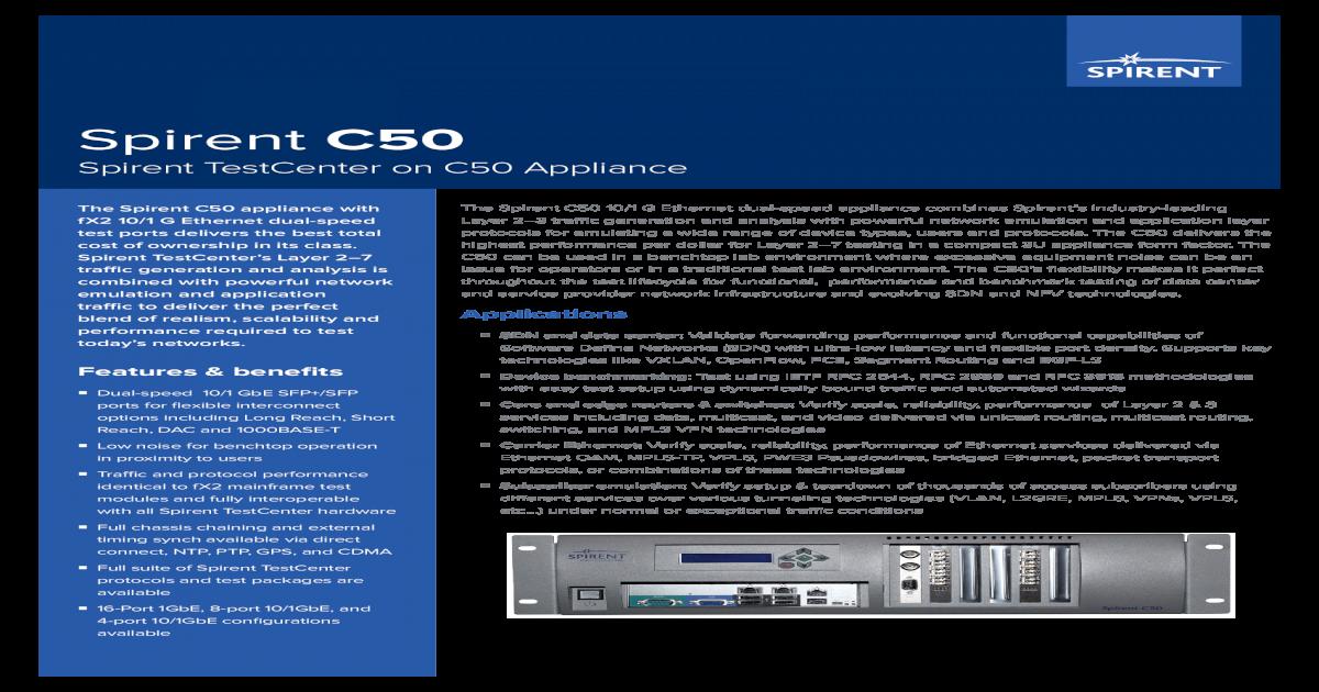 Spirent C /media/Datasheets/Broadband/PAB/Spirent   Spirent