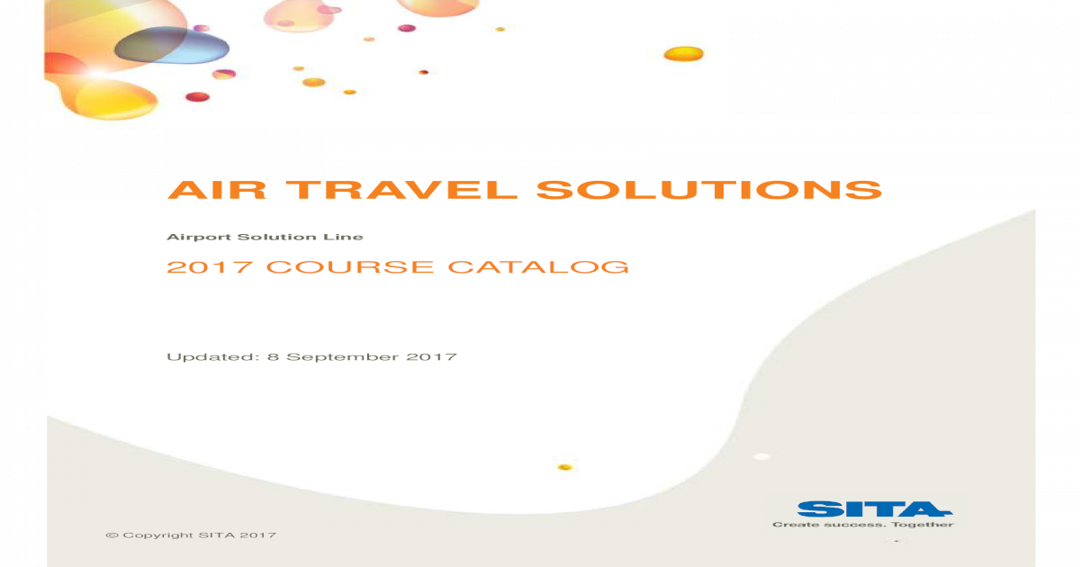 AIR TRAVEL SOLUTIONS - Home | SITA TRAVEL SOLUTIONS Airport Solution