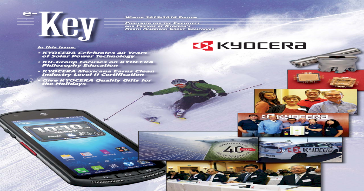 KYOCERA Celebrates 40 Years of Solar Power Technology     A