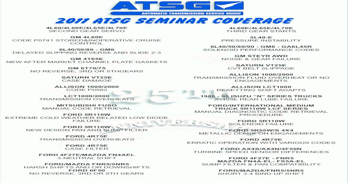 2011 ATSG SEMINAR 2017 pdf2011 ATSG SEMINAR COVERAGE Title