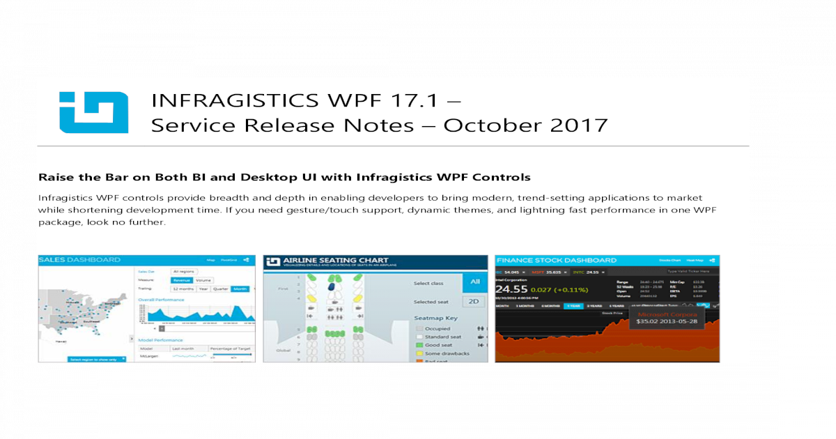INFRAGISTICS WPF 17 1 Service Release Notes October Release Notes