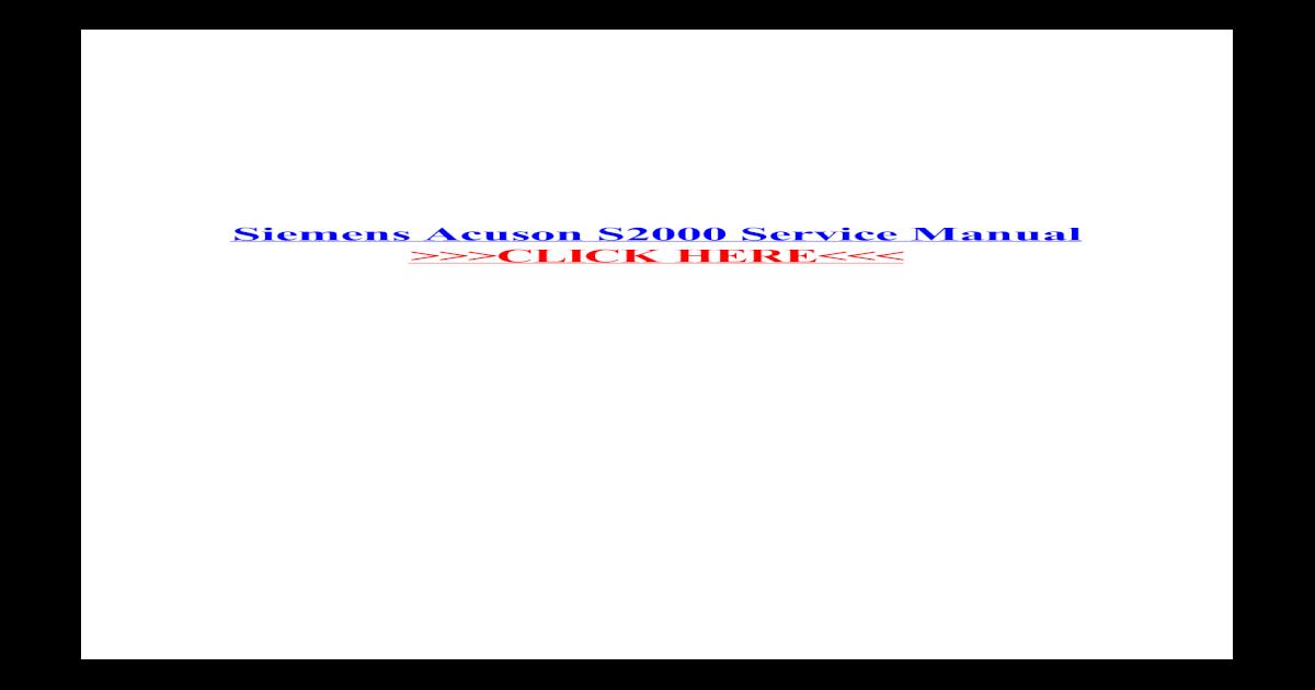 acuson s2000 service manual