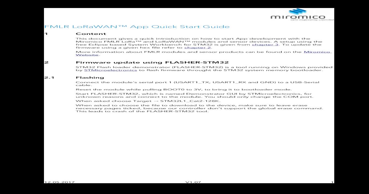 FMLR LoRaWAN App Quick Start Guide - Development Setup 3 1