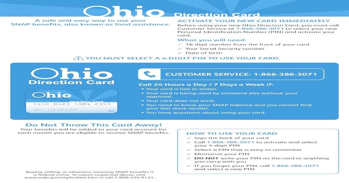 Ohio Electronic Benefit Transfer EBT