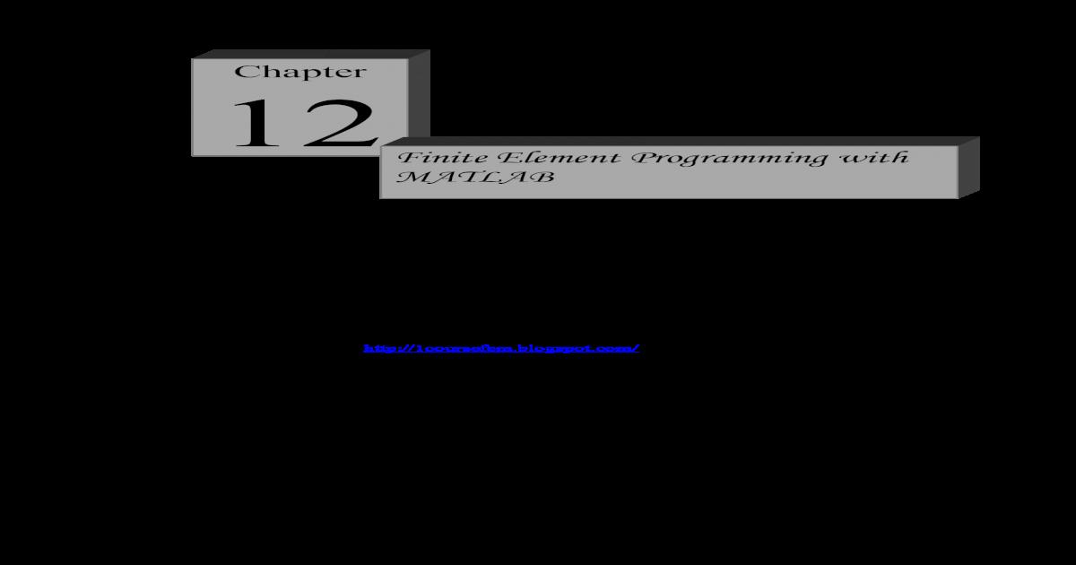 finite element programming with MATLAB