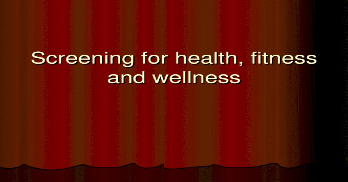 health fitness and wellness