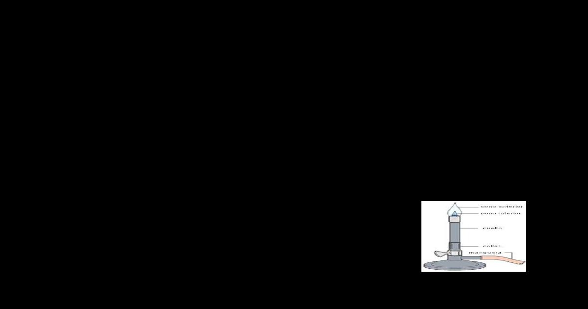 partes de la llama del mechero y temperatura que alcanzan