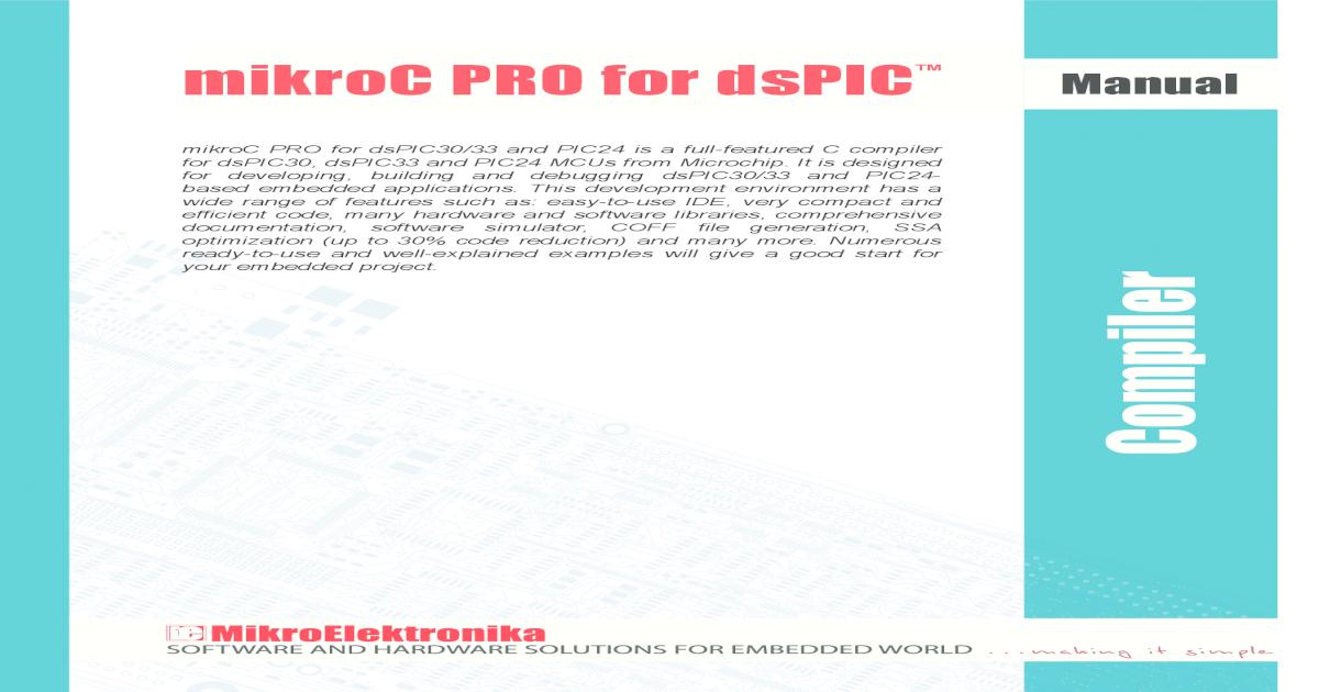 Mikroc Pro for Dspic Manual v100-15136