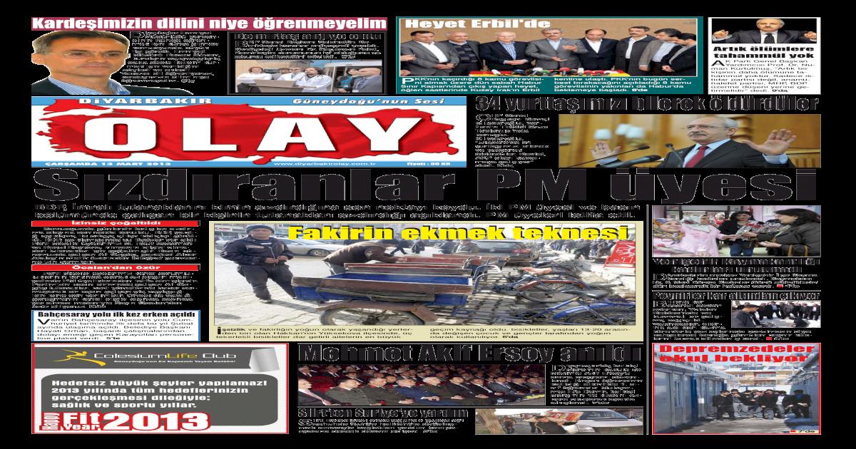 13 03 2013 Gazete Sayfalar