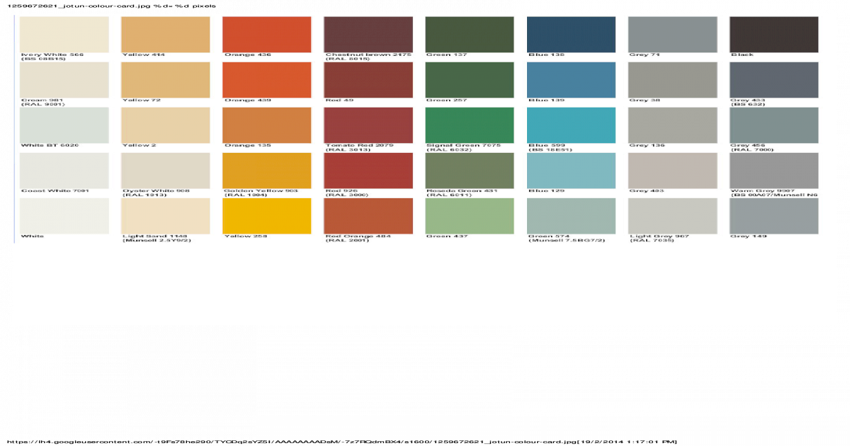 Jotun Color Chart Ral | mountainstyle co