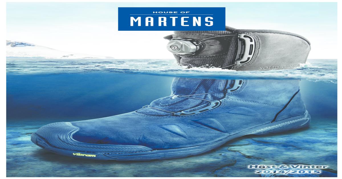 43adc38f House of Martens produktblad skor & sulor, hst & vinter 2014 / 2015