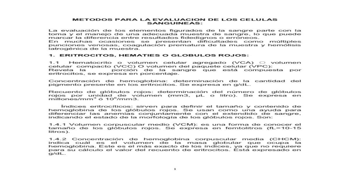 Volumen corpuscular medio calculo