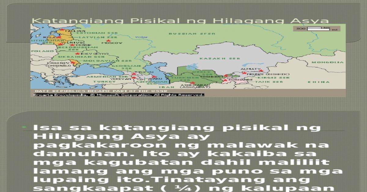 Katangiang Pisikal Ng Hilagang Asya