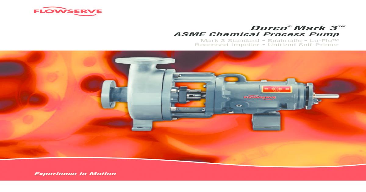 Durco Mark III - Flowserve