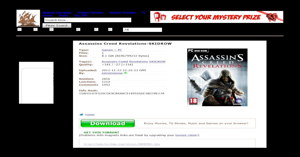 assassins creed brotherhood download tpb skidrow
