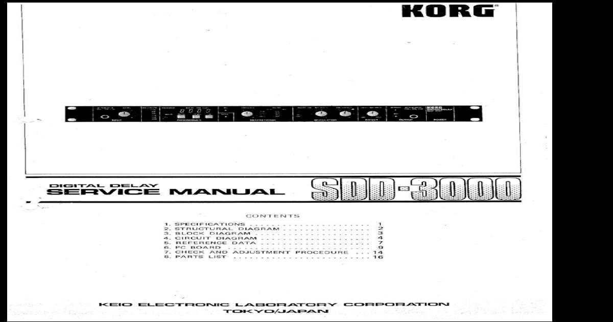 Korg SDD-3000 Service Manual
