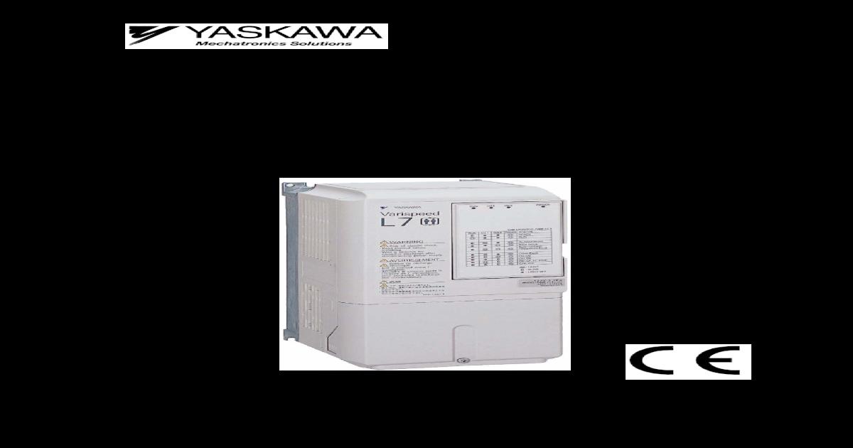 Yaskawa l7 instruction manual | electromagnetic compatibility.